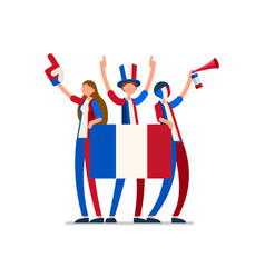 France flag french people vector