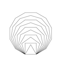 Golden ratio geometric shapes vector
