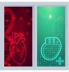 Heart pacemaker banner vector image vector image
