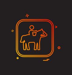 horse riding icon design vector image