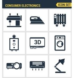 Icons set premium quality of home appliances vector image