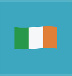 ireland flag icon in flat design vector image