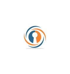 Key hole secure logo vector