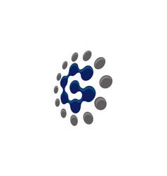 letter c technology vector image