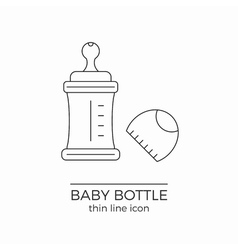 Line icon for baby bottle vector