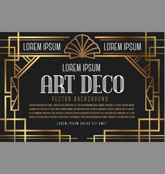 Luxury vintage artdeco frame design vector