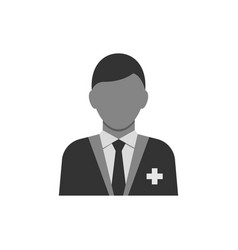 medical consultant gray icon on white background vector image