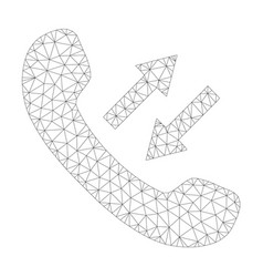 mesh phone talking icon vector image