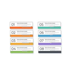 modern flat line infographics 8 option vector image