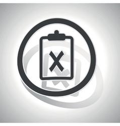 Negative result sign sticker curved vector