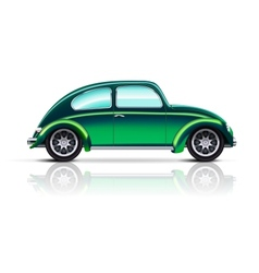 Old car beetle vector