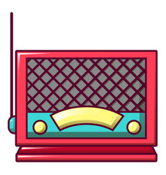 old fashion radio icon cartoon style vector image