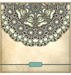 Ornamental circle floral pattern vector image
