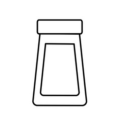 outline bottle glass cover plastic object icon vector image