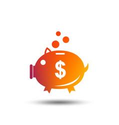 Piggy bank sign icon moneybox symbol vector