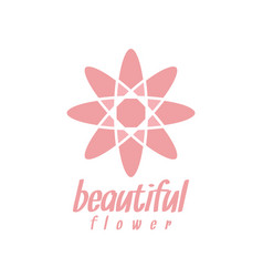 pink flower logo design inspiration vector image