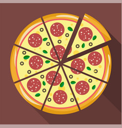 Pizza in flat style vector