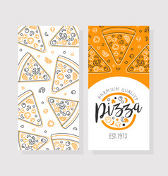 pizza premium quality business card template vector image