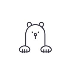 polar bear line icon sign on vector image
