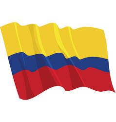 political waving flag of colombia vector image