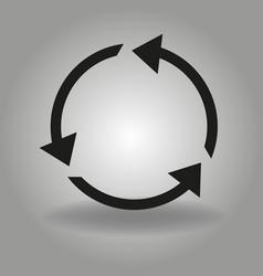 recycle arrow flat simple modern vector image