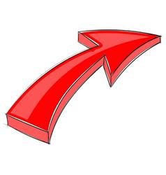 Red up arrow vector