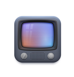 Retro tv interface icon television app vector