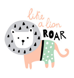 roar like a cute lion vector image