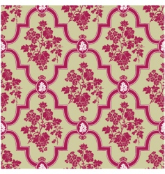 rose floral pattern vector image