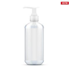 Sanitizer bottle with pump vector