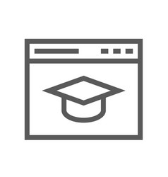school and university flat line icon vector image