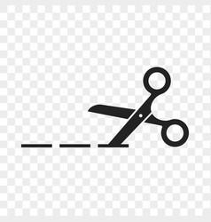 scissors cutting line icon vector image