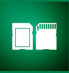 sd card icon memory card adapter icon vector image