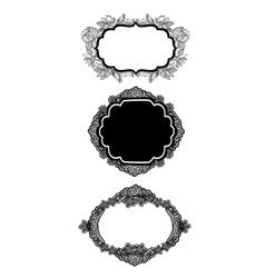 set og three vintage lacy labels vector image
