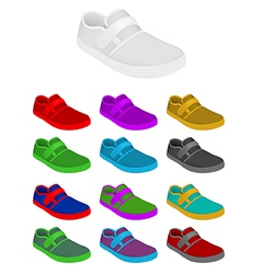 Sneakers set template vector image