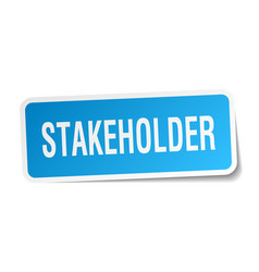stakeholder square sticker on white vector image