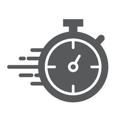 stopwatch glyph icon watch and countdown timer vector image