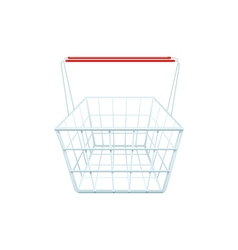 Supermarket Grocery Shopping Basket Realistic vector