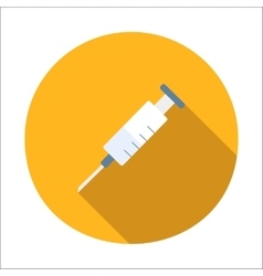 Syringe flat icon vector