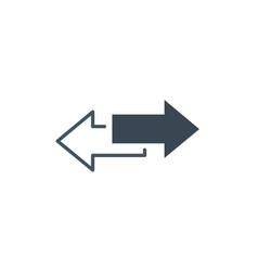 The left and right arrows icon arrows symbol vector