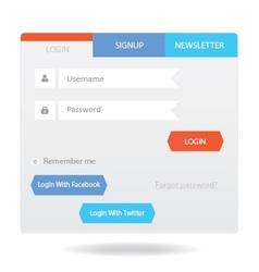 User login form 16 vector