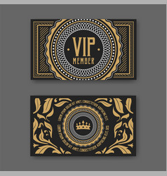 Vip membership card certificate template vector