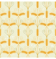 Wheat seamless vector