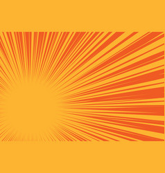 Yellow sun on a red background pop art comic vector