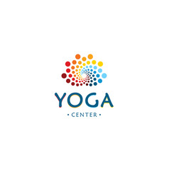yoga center logo abstract lotus beauty flower vector image