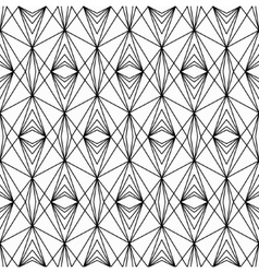 Line lace seamless pattern vector image