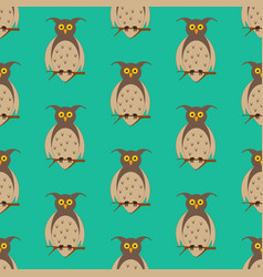 owl on the branch pattern vector image
