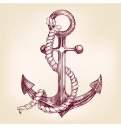 anchor hand drawn llustration vector image