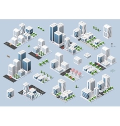 City three-dimensional winter town vector image
