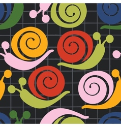 Colorful pattern with snails vector image vector image